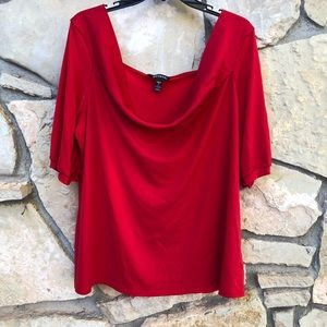 5/$15 George Bright Red Blouse